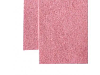 100% vlněná plst - středně růžová - atest.