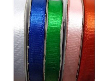 219 atlasova stuha jednobarevna 10mm ruzne barvy
