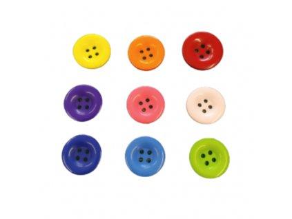 Knoflík plastový vel. 33mm - různé barvy