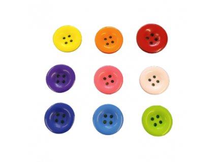 Knoflík plastovy vel. 20mm - různé barvy