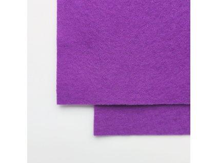 100vlnena plst fialova