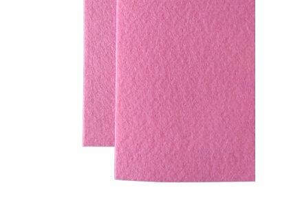100% polyesterova plst stredne ruzova