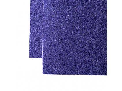 vlnena plst 3mm tmave modra