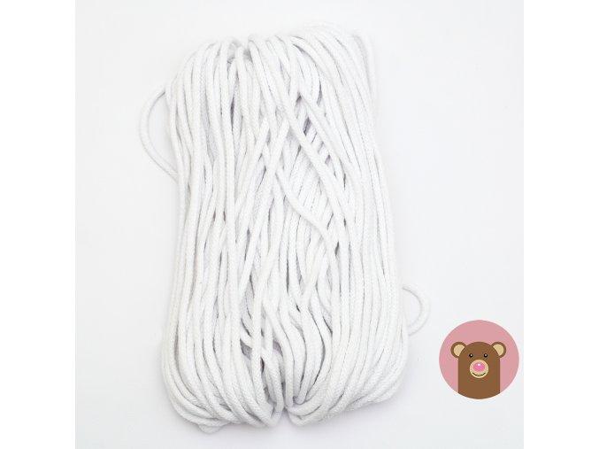Šňůrka bílá 5 mm