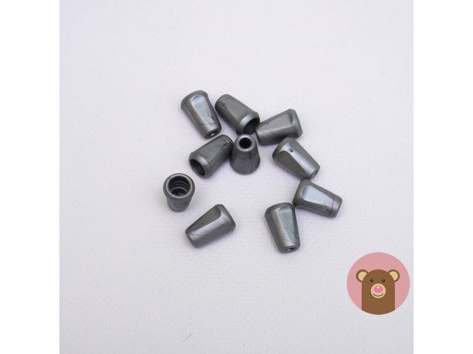 Koncovka stříbrno-šedá