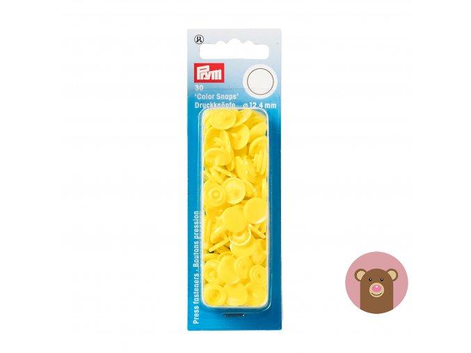 "Patentky ""Color snaps 12.44mm"" PRYM LOVE - žlutá"