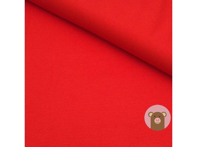 Náplet jemně žebrovaný červená