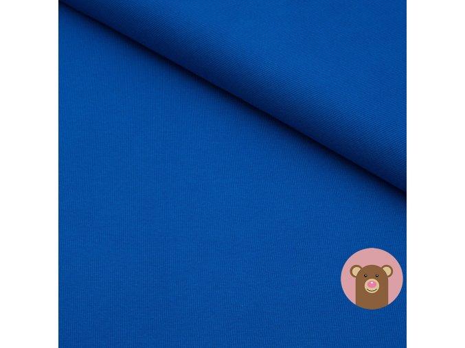 Náplet jemně žebrovaný modrá