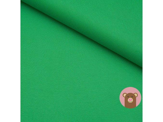 Náplet jemně žebrovaný zelená