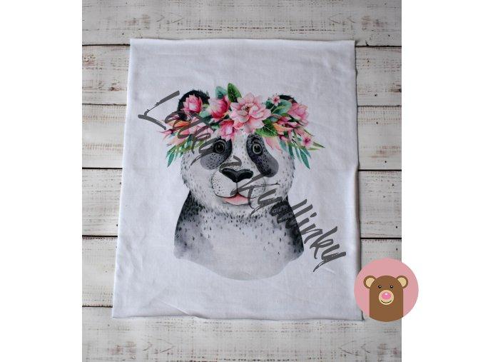 2279 1 panel panda s kvety