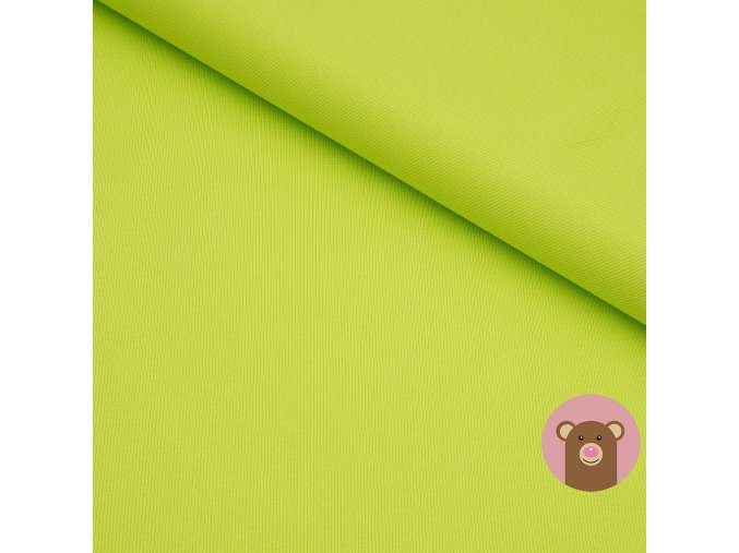 Náplet jemně žebrovaný svítivě zelená