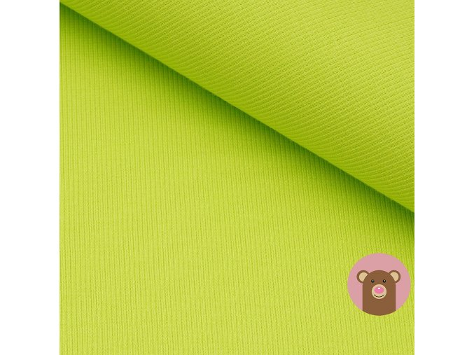 2483 2 naplet jemne zebrovany svitive zelena
