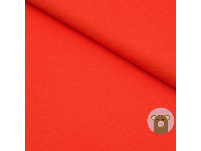 100% bavlněný úplet červená