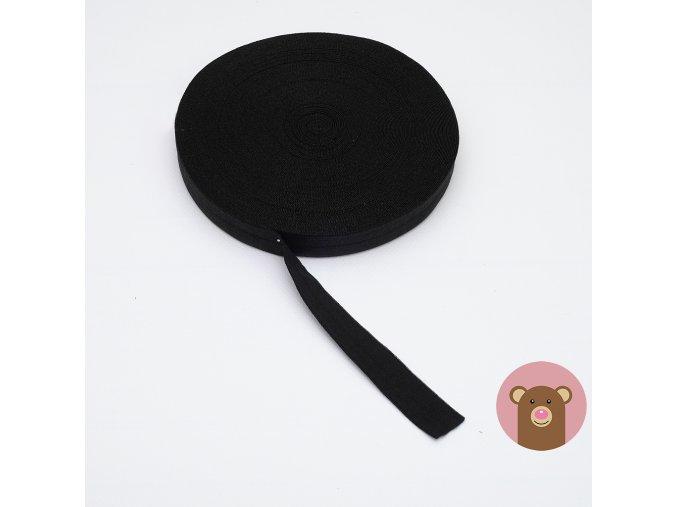 Lemovací pruženka půlená 19mm - černá