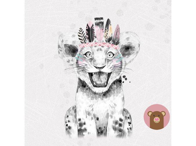 grey boho tiger girl