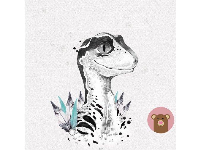 4718 1 panel dinosaurus
