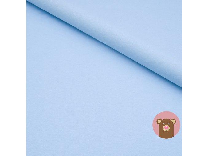 100% bavlněný úplet bledě modrá