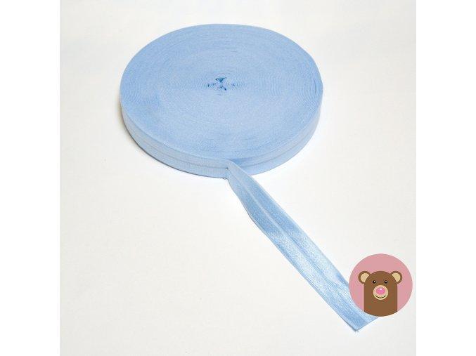 Lemovací pruženka půlená 19mm - světle modrá