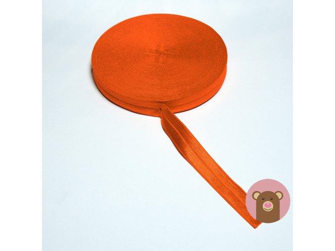 Lemovací pruženka půlená 19mm - oranžová