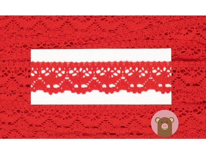 4925 krajka palickovana 23 mm cervena