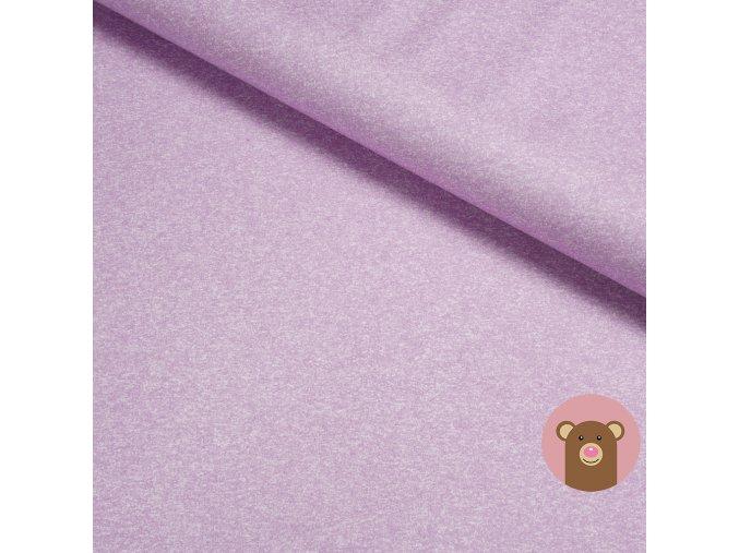 100% bavlněný fialová melánž