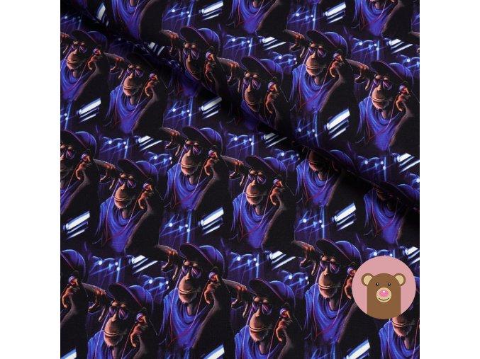 5527 2 teplakovina opice s cepici