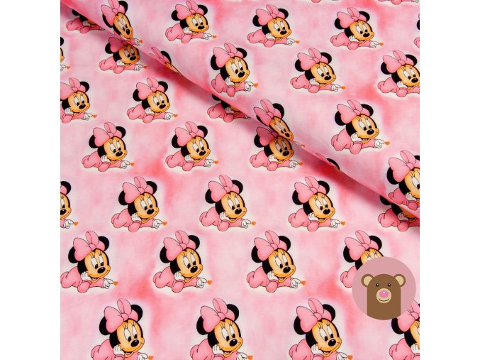 teplákovina malá Minnie na růžové