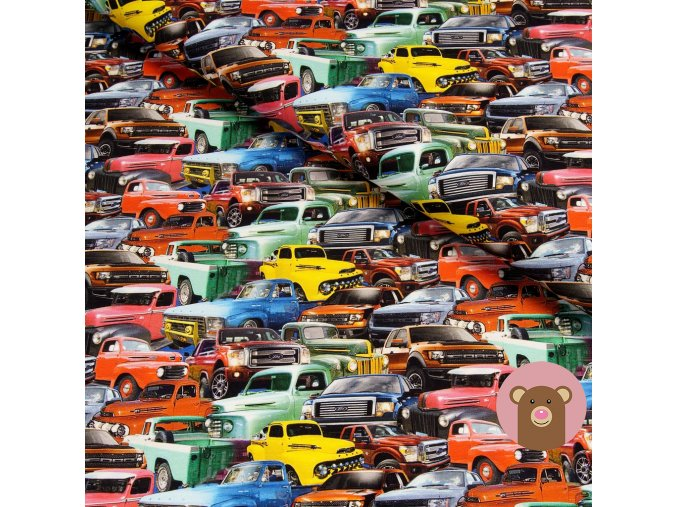 teplákovina barevná auta