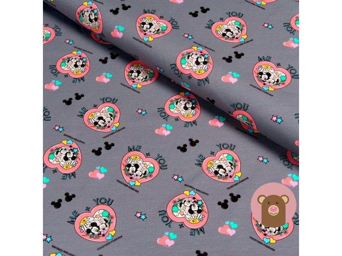 úplet Mickey a Minnie srdíčka