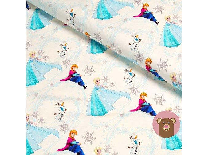 teplákovina Anna, Elsa a Olaf na smetanové