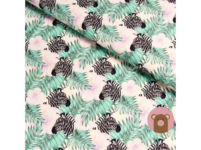5842 3 teplakovina zebry s kvety