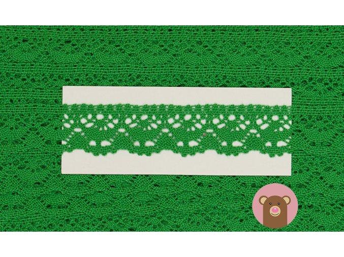6043 krajka palickovana 23 mm zelena