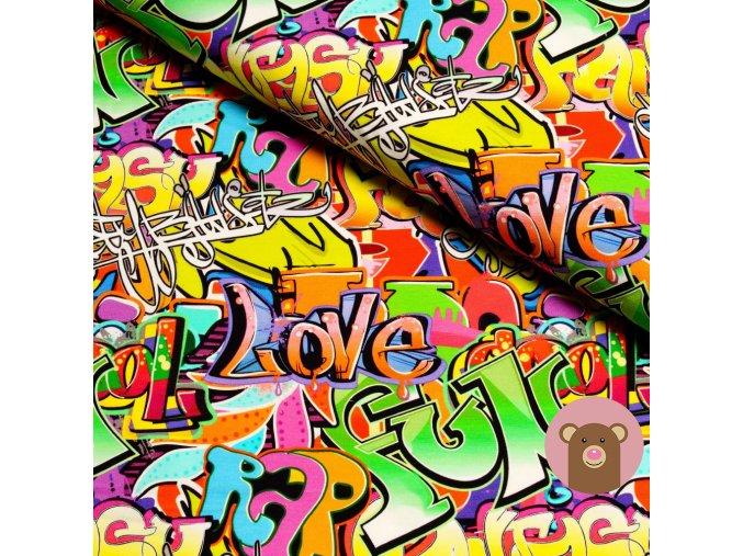 6199 teplakovina barevne graffiti