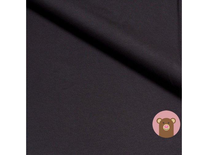 Bambusová teplákovina jednobarevná černá