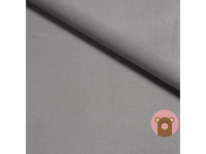 Bambusová teplákovina jednobarevná tmavě šedá