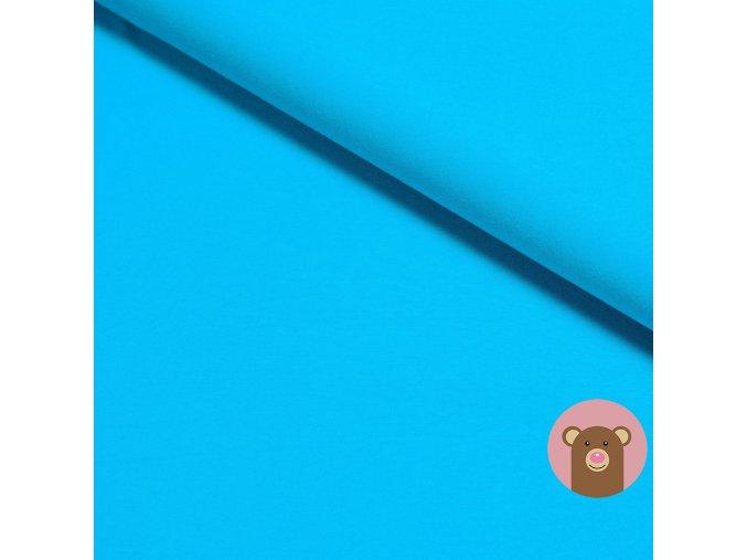 Bambusová teplákovina jednobarevná tyrkysová