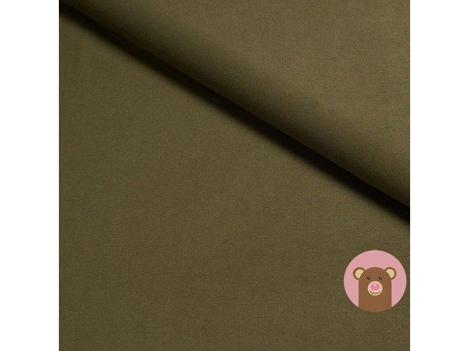 Bambusová teplákovina jednobarevná khaki
