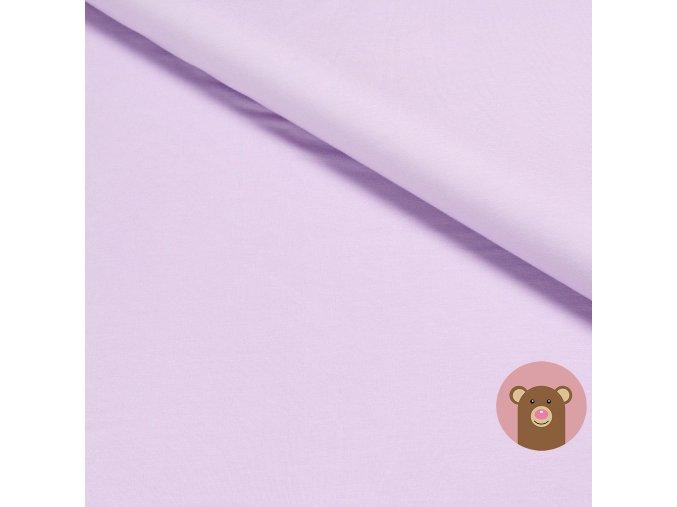 Bambusová teplákovina jednobarevná světle fialová