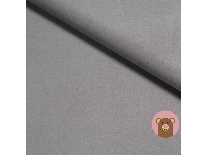 Bambusový úplet jednobarevný tmavě šedá
