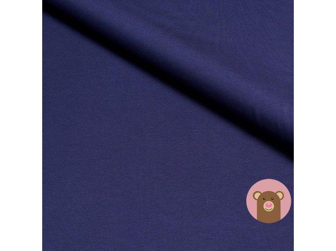 Bambusový úplet jednobarevný tmavě modrá