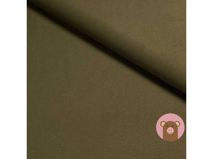 Bambusový hladký náplet - khaki