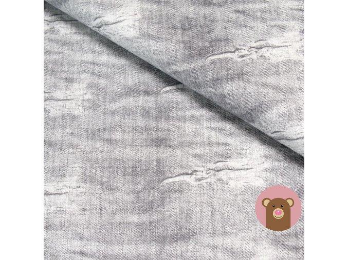 6823 teplakovina svetly potrhany jeans