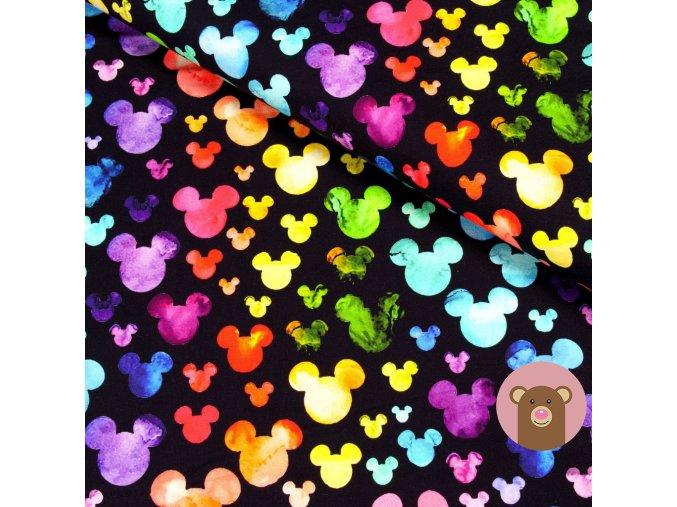 teplákovina Barevné hlavičky Mickey