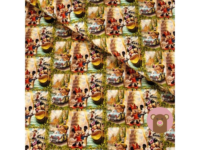 teplákovina Mickey a Minnie cestují
