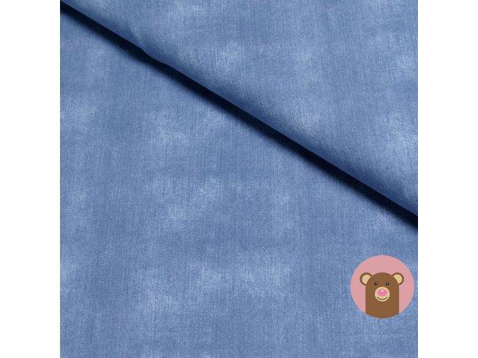 6937 teplakovina jeans old blue