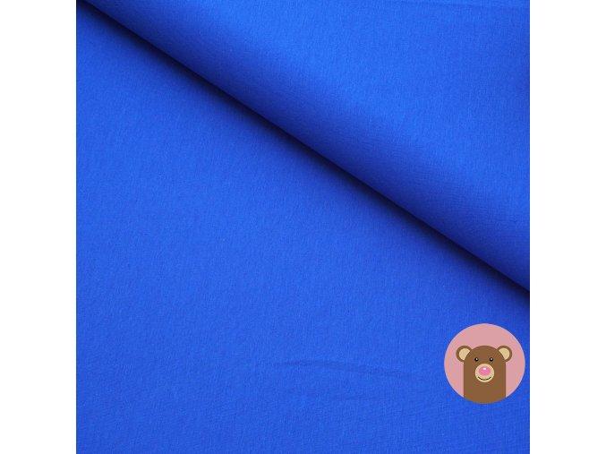 100% bavlněný úplet modrá