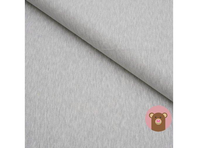 100% bavlněný úplet šedá melánž