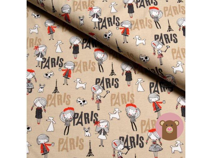 100% bavlněný úplet Paris