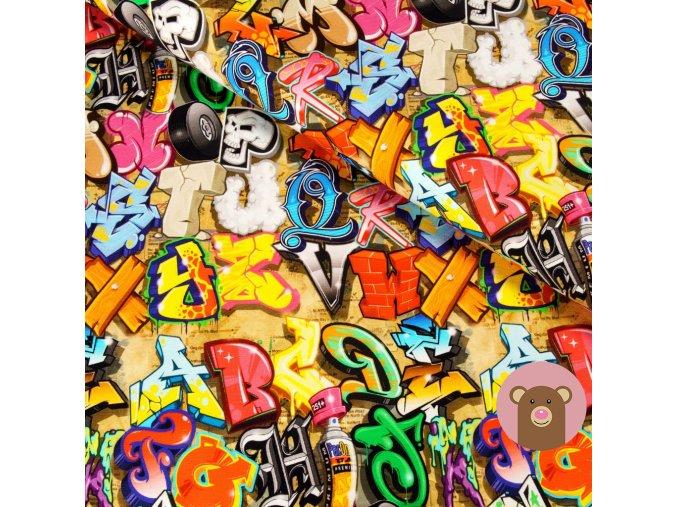 teplákovina Graffiti - písmenka