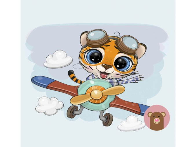 tygřík v letadle